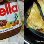 A heavenly somewhat decadent snack: Airfryer Nutella banana wraps